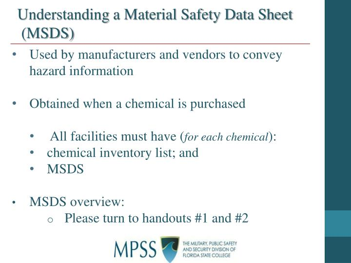 Understanding a Material Safety Data Sheet
