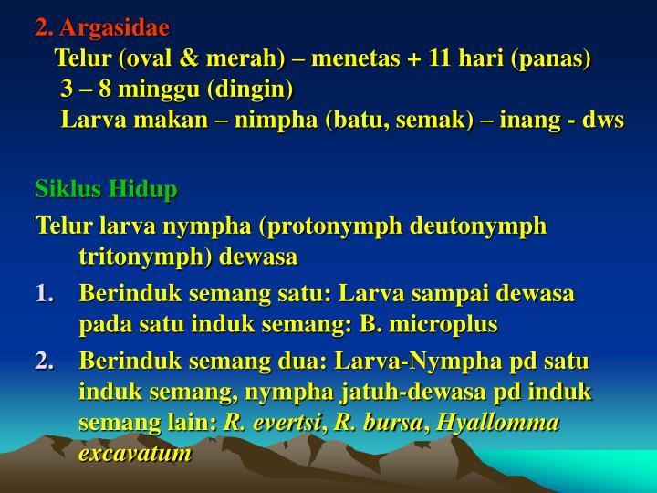 2. Argasidae