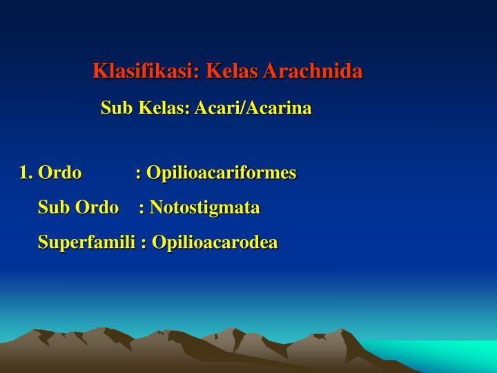 Klasifikasi: Kelas Arachnida