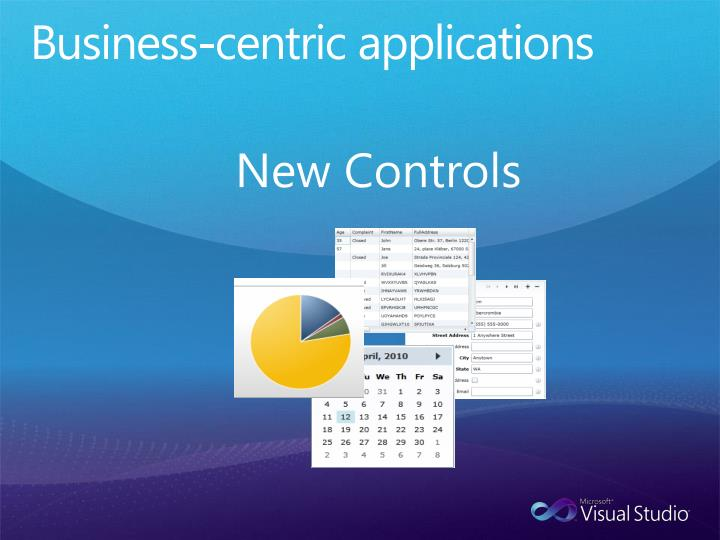 Business-centric applications