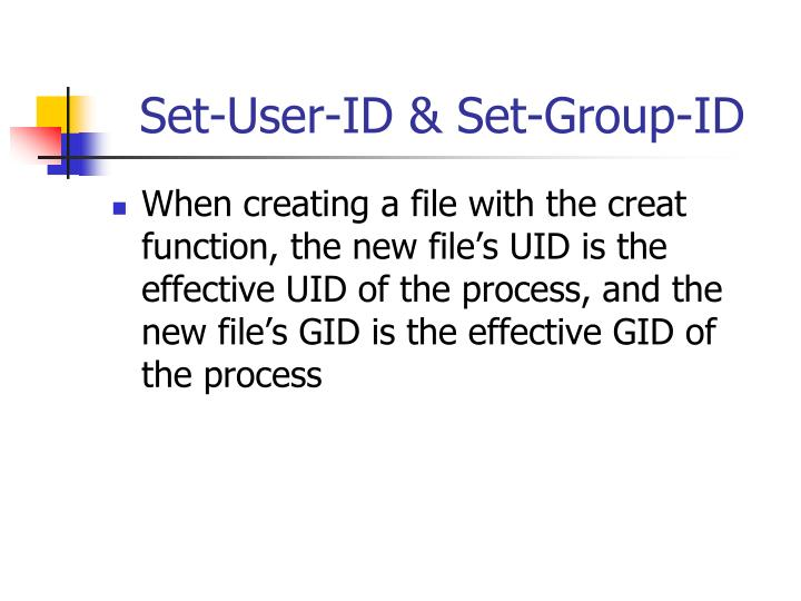 Set-User-ID & Set-Group-ID