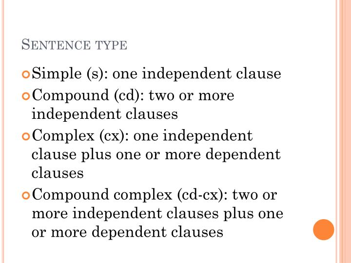 Sentence type