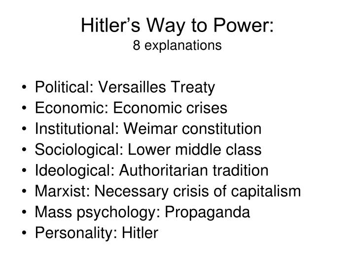 Hitler's Way to Power: