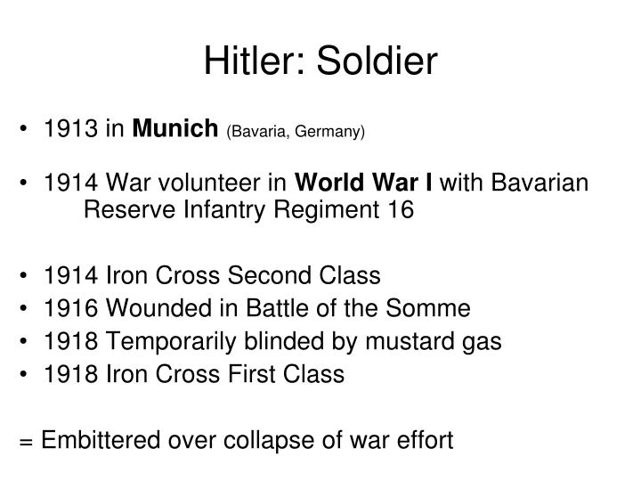 Hitler: Soldier