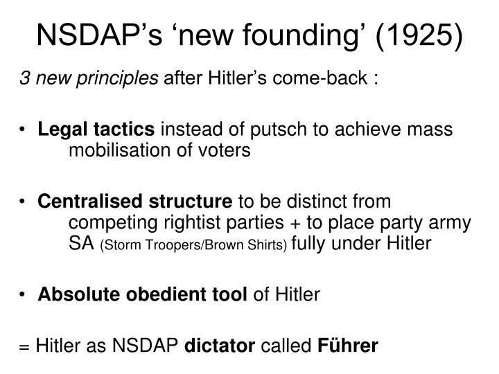 NSDAP's 'new founding' (1925)