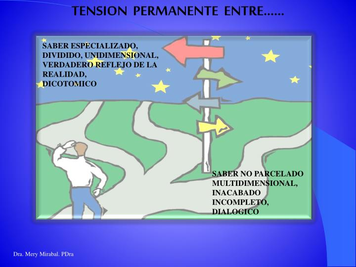 TENSION  PERMANENTE  ENTRE……