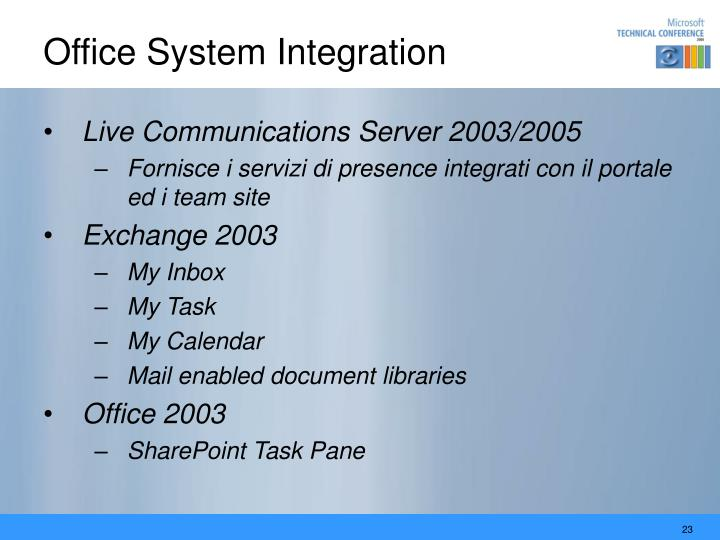 Office System Integration