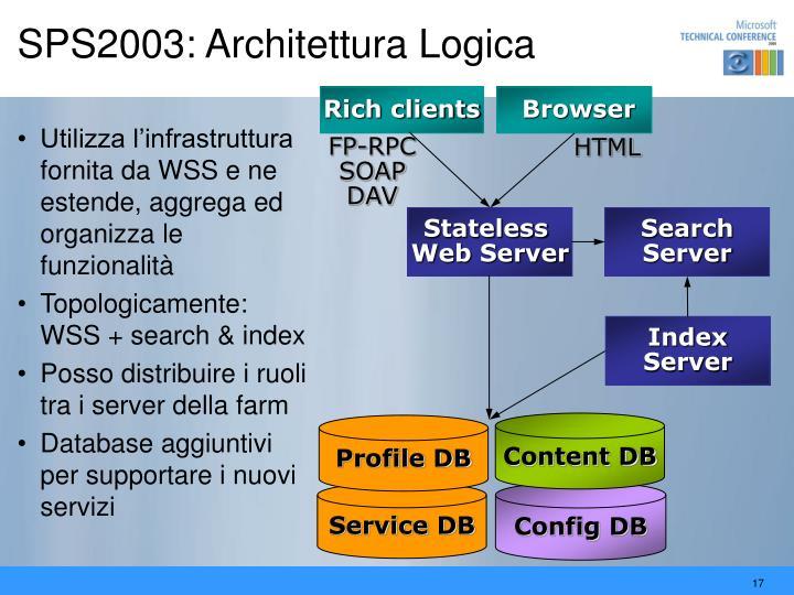 SPS2003: Architettura Logica