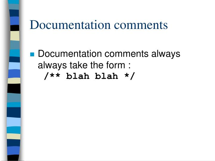 Documentation comments
