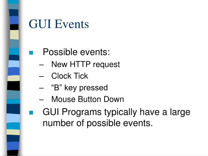 GUI Events