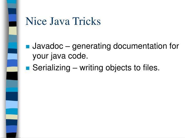 Nice Java Tricks