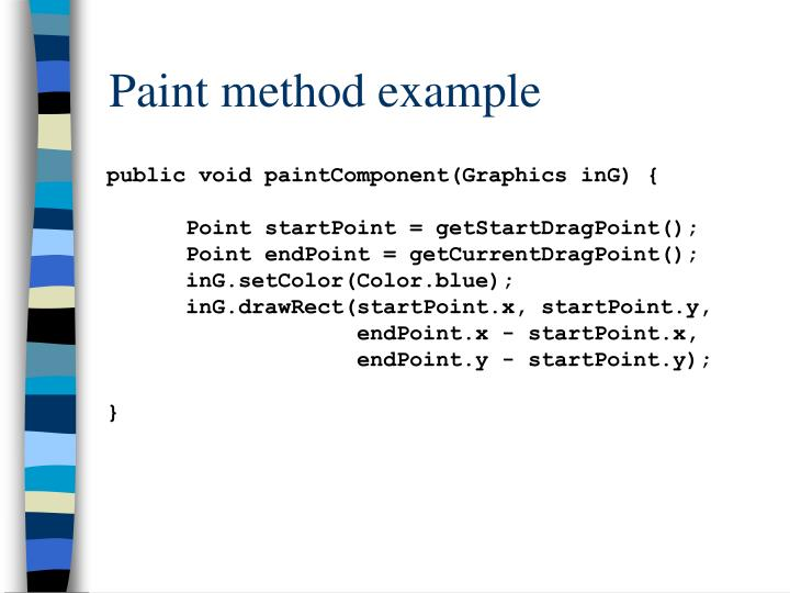 Paint method example