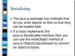 serializing