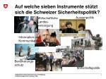 auf welche sieben instrumente st tzt sich die schweizer sicherheitspolitik1