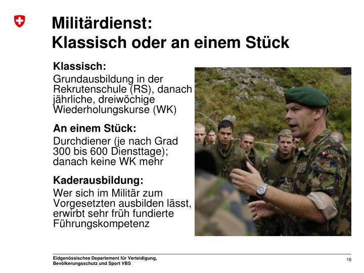 Militärdienst: