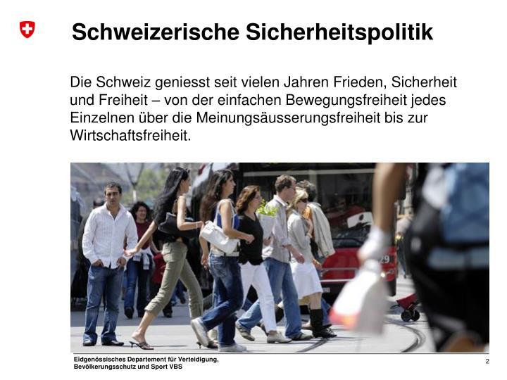 Schweizerische Sicherheitspolitik
