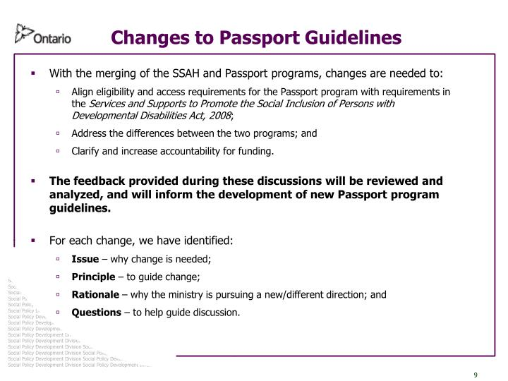 Changes to Passport Guidelines