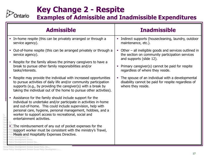 Key Change 2 - Respite