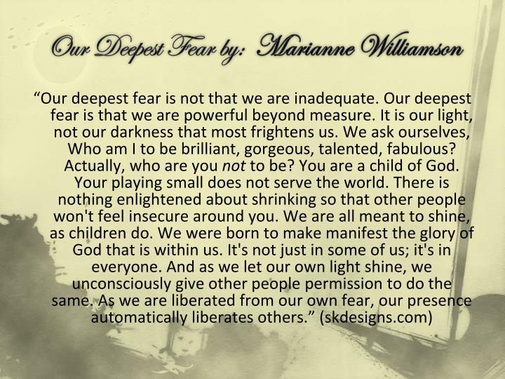 My Deepest Fear Essay