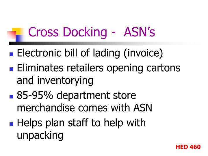 Cross Docking -  ASN's