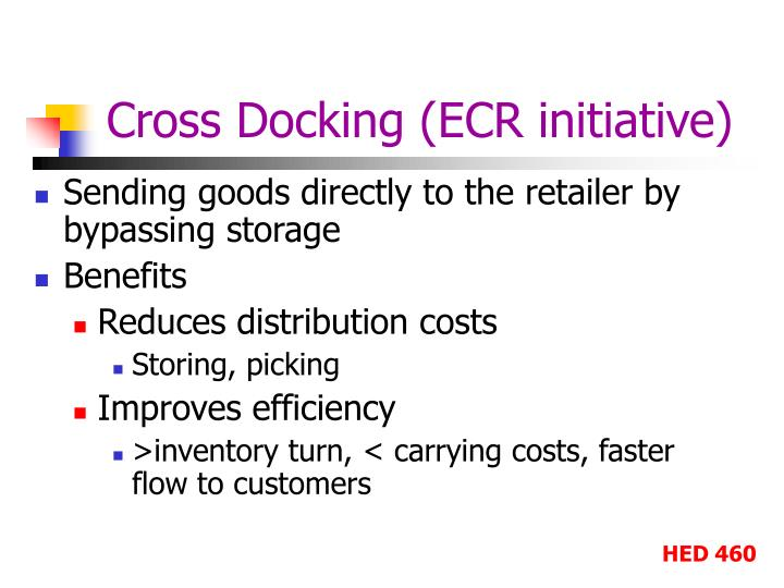 Cross Docking (ECR initiative)