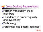 cross docking requirements