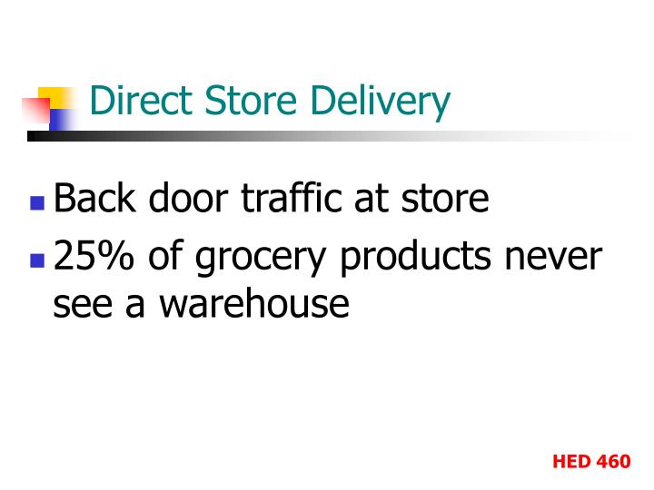 Direct Store Delivery
