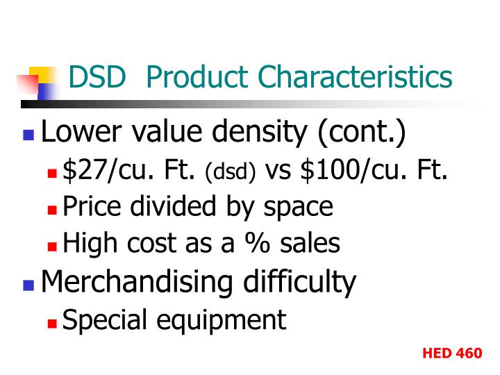 DSD  Product Characteristics