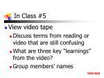 in class 5