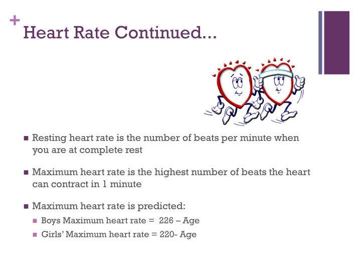Heart Rate Continued...