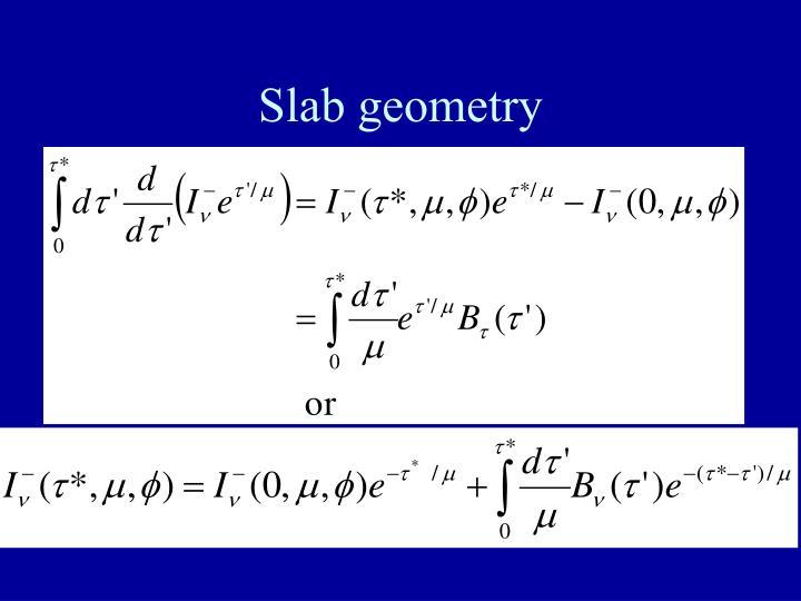 Slab geometry