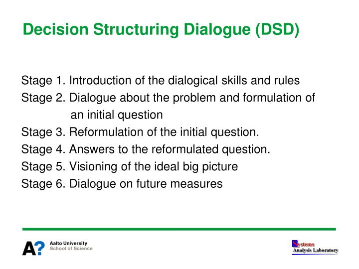 Decision Structuring Dialogue (DSD)