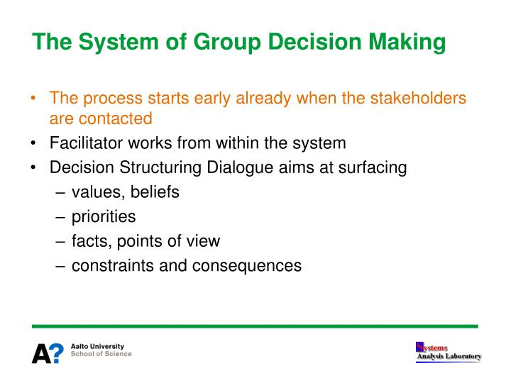 The System of Group Decision Making