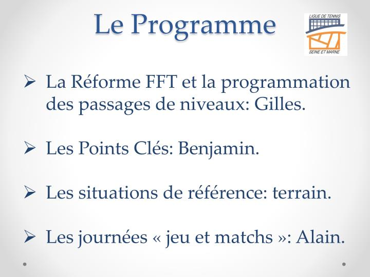Le Programme