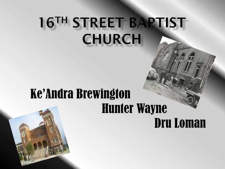 16 th street baptist church