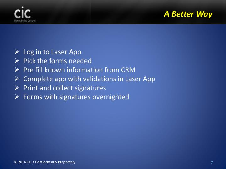 Log in to Laser App