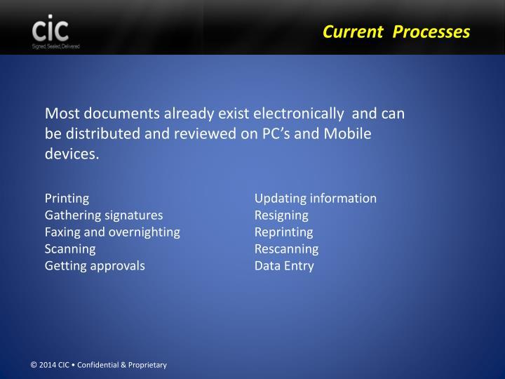 Current  Processes