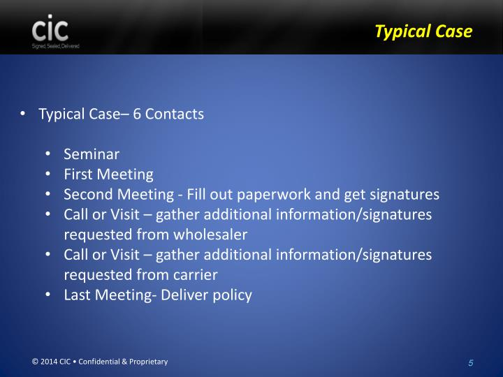Typical Case– 6 Contacts