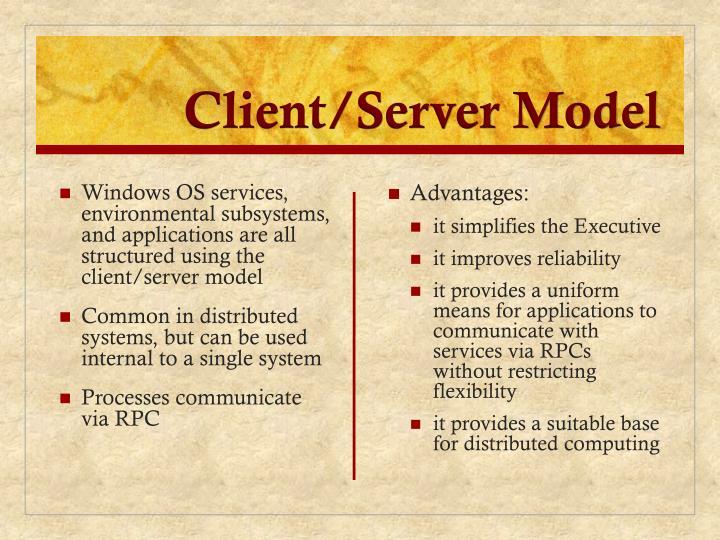 Client/Server Model