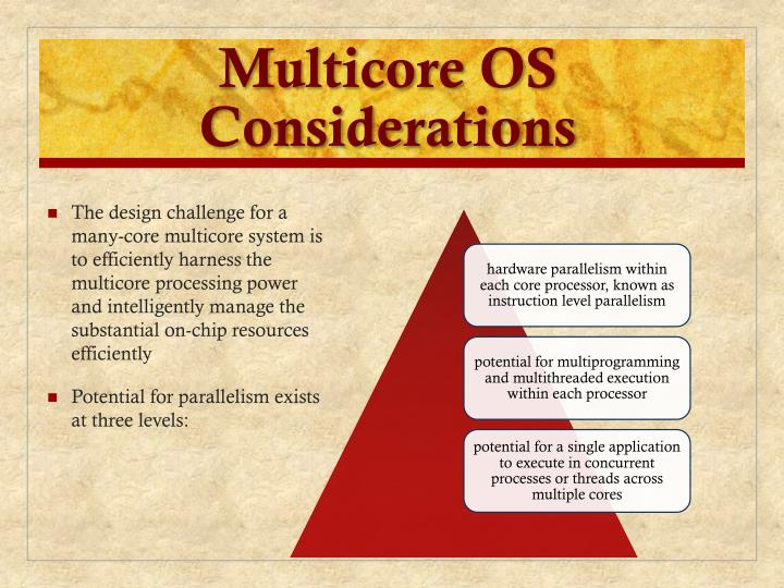 Multicore OS Considerations