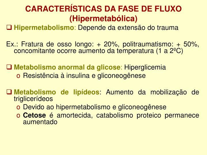 CARACTERÍSTICAS DA FASE DE FLUXO
