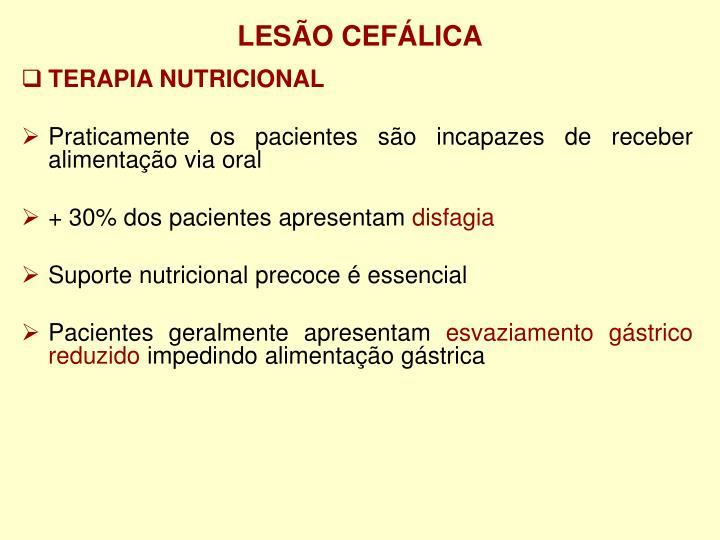 LESÃO CEFÁLICA