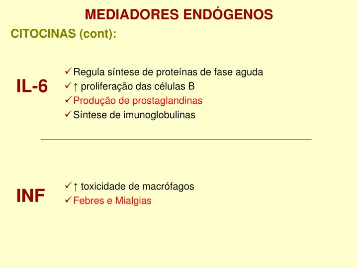 MEDIADORES ENDÓGENOS
