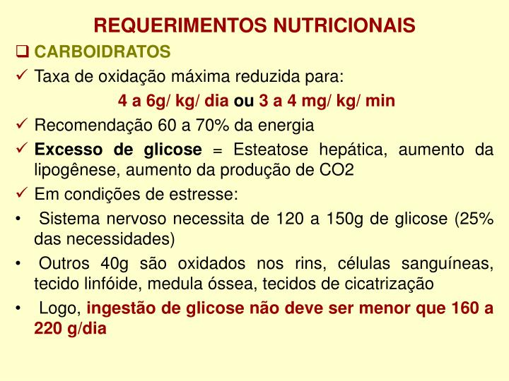 REQUERIMENTOS NUTRICIONAIS