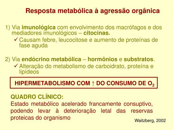 Resposta metabólica à agressão orgânica