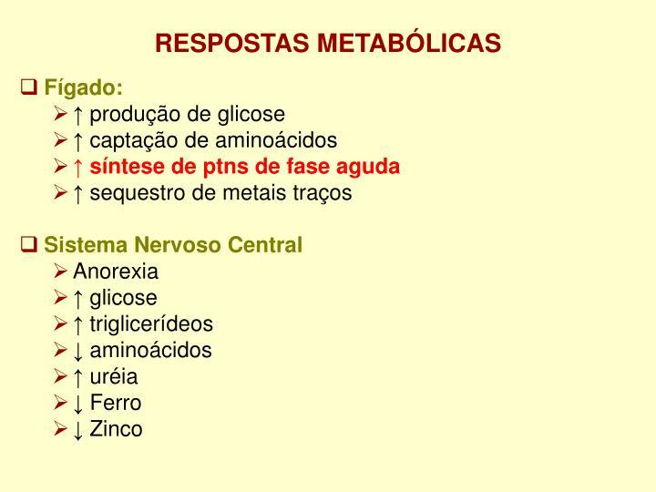RESPOSTAS METABÓLICAS