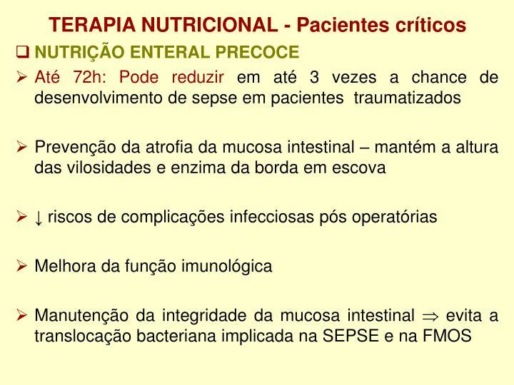 TERAPIA NUTRICIONAL - Pacientes críticos
