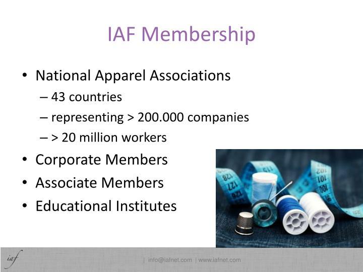 IAF Membership