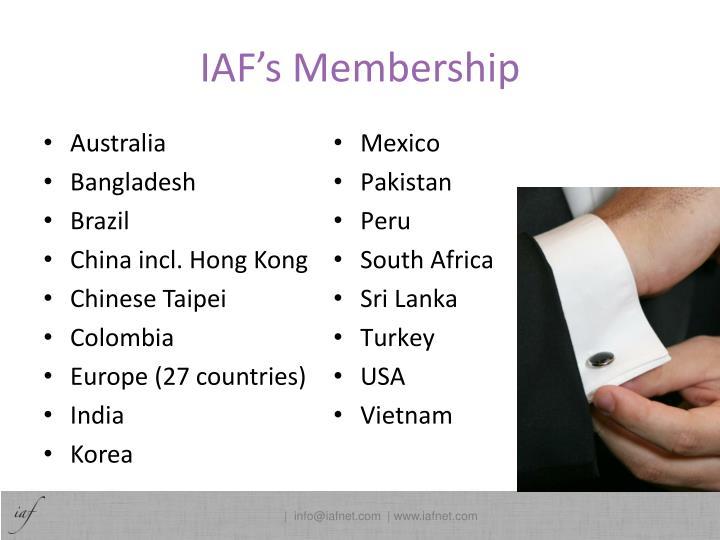 IAF's Membership