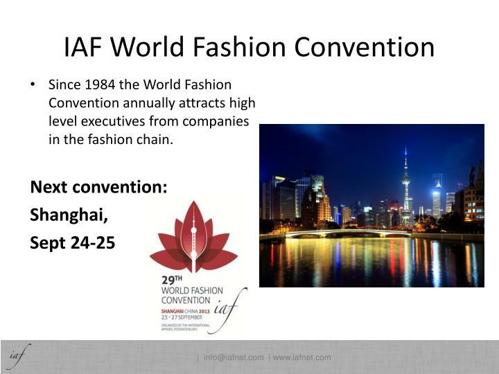 IAF World Fashion Convention